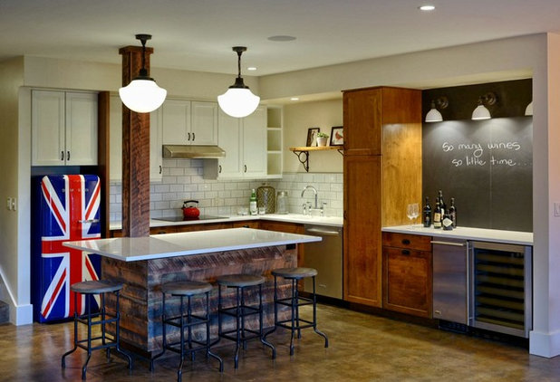 Prohibition Kitchen prohibition-era parties inspire a basement for entertaining