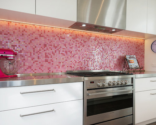pink kitchen tiles pink kitchen design ideas renovations amp photos with 1503