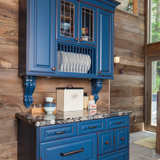75 Beautiful Blue Kitchen With Distressed Cabinets Pictures