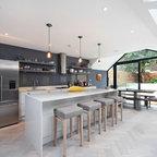 Modern Flatiron Loft Renovation Custom Gray Kitchen