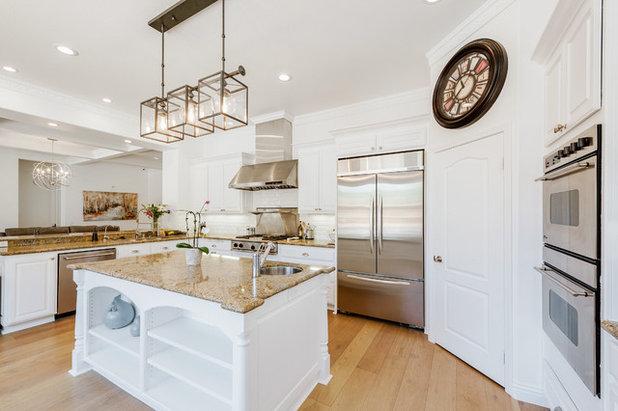Transitional Kitchen by Spazio LA