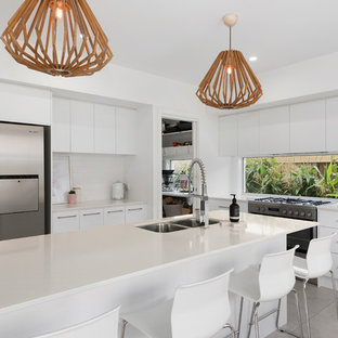 Beach style kitchen in Other.