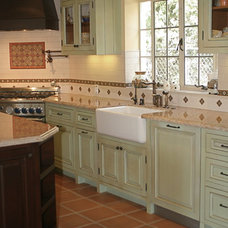 Mediterranean Kitchen by Allison Knizek Design for Prescott Properties