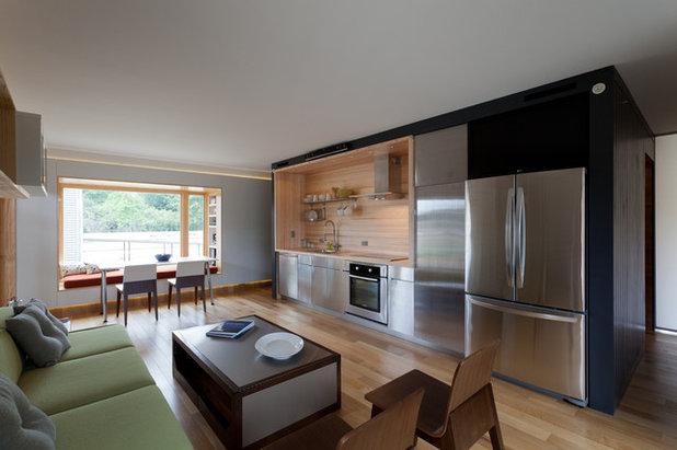Contemporary Kitchen by solarhomestead.appstate.edu