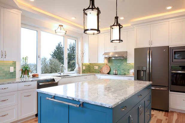Transitional Kitchen by G. Christianson Construction, Inc.