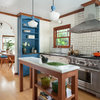 Kitchen of the Week: White, Wood and Blue Perk Up Tudor Style