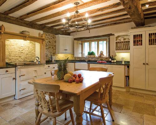 Inspiration For A Small Farmhouse L Shaped Eat In Kitchen Remodel In Devon  With Part 51