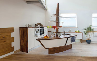 Commandeer an Unusual Island for a Quirky Kitchen