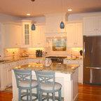 Easy-Reach Corner Wall Cabinet - Beach Style - Kitchen ...