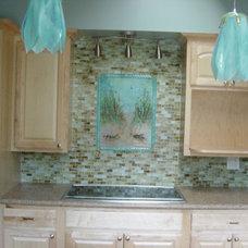Beach Style Kitchen by Designer Glass Mosaics