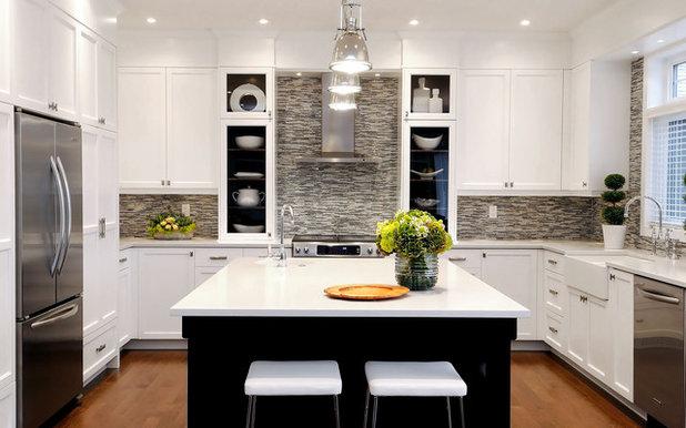 Transitional Kitchen by Atmosphere Interior Design Inc.