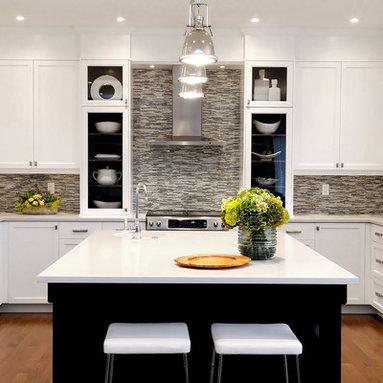 Grey Tile Backsplash Home Design Ideas, Pictures, Remodel and Decor