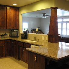 Craftsman Kitchen by Dovetail Remodeling