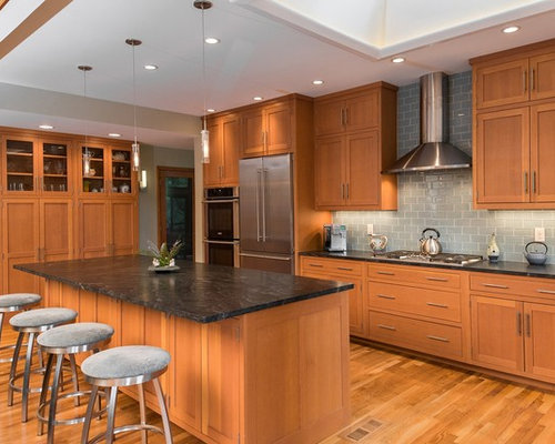 Douglas fir cabinets houzz for Kitchen cabinets houzz
