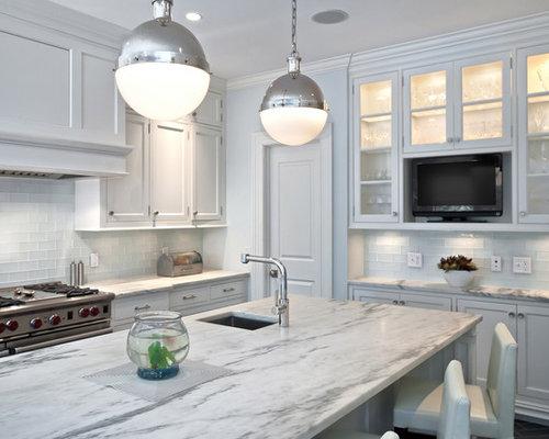 Glass Subway Tile Backsplash Home Design Ideas, Pictures ...