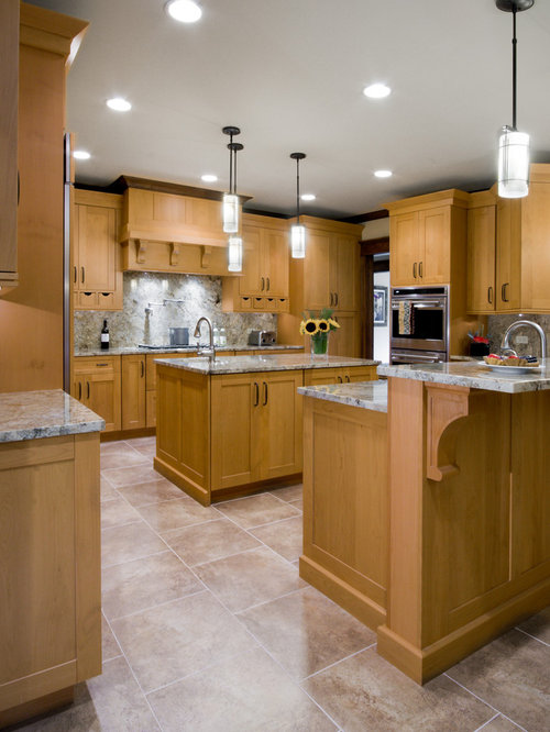 Golden Oak Cabinets | Houzz