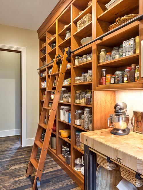 Küchen mit offenen Schränken und Arbeitsplatte aus Holz - Ideen ...