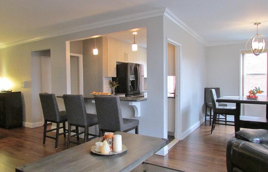 Penthouse Apartment Kitchen in Bronxville