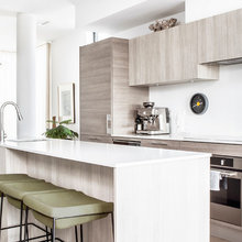 white and wood kitchens
