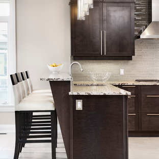 Kitchen - transitional kitchen idea in Ottawa with shaker cabinets and stainless steel appliances