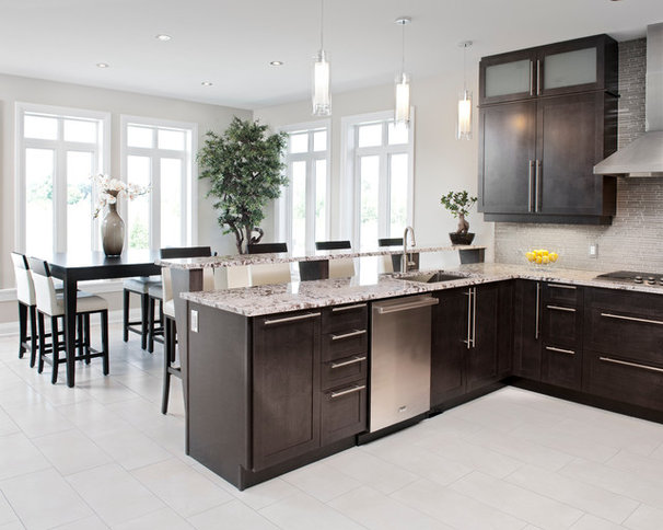Transitional Kitchen by Laurysen Kitchens Ltd.