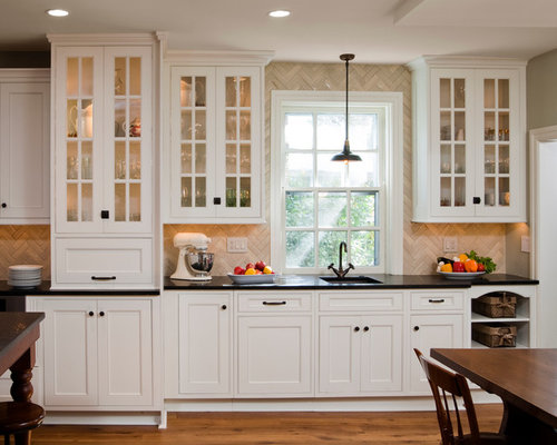 white beaded inset cabinets photos