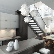 Modern Kitchen by Uribe Studio Inc.