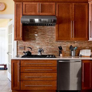 Trendy kitchen photo in New York