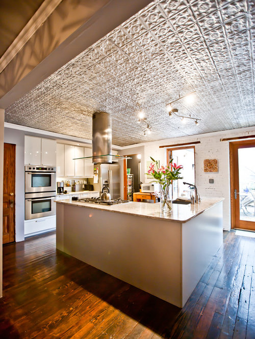 Tin Ceiling Tiles Backsplash Houzz