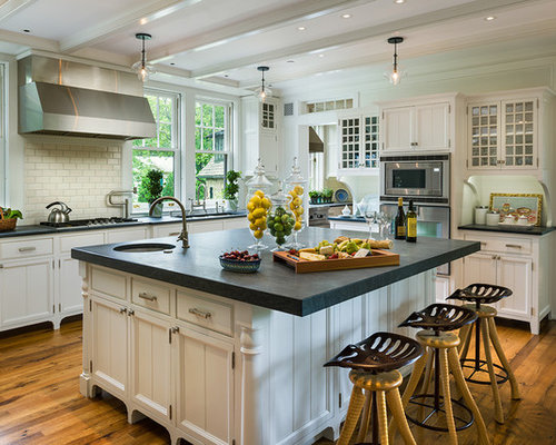 Kitchen   Traditional Kitchen Idea In Philadelphia With Recessed Panel  Cabinets, White Cabinets And