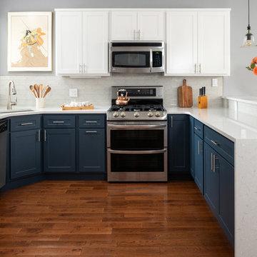 Philadelphia Blue & White Kitchen