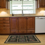 White and Cherry Transitional Style Kitchen - Traditional - Kitchen - Chicago - by Normandy ...