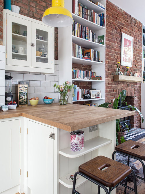 Small apartment kitchens houzz for Foreign kitchen designs