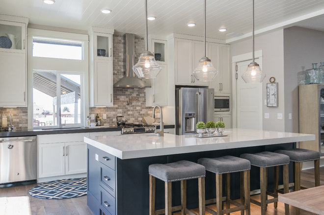 Transitional Kitchen by Ann Parris Photography