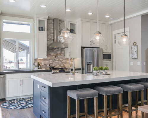 Open concept kitchen design ideas remodel pictures houzz for Open concept galley kitchen designs