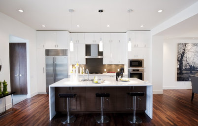 Kitchen of the Week: Ultra-White Cabinetry in Calgary