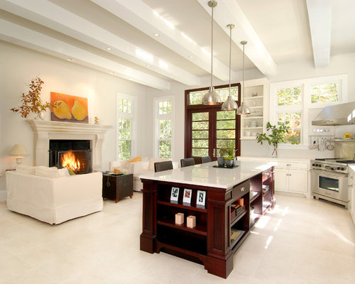 Hearth room houzz for House plans with hearth room