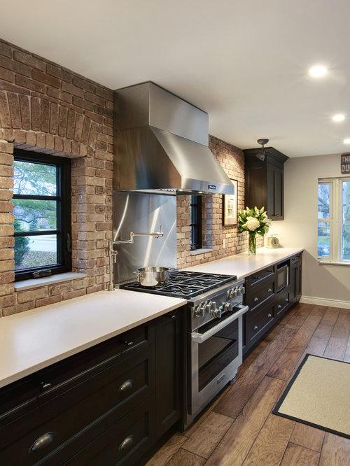rustikale k chen mit sperrholzboden ideen bilder. Black Bedroom Furniture Sets. Home Design Ideas