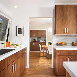 Inspiration for a contemporary kitchen remodel in San Francisco with an undermount sink