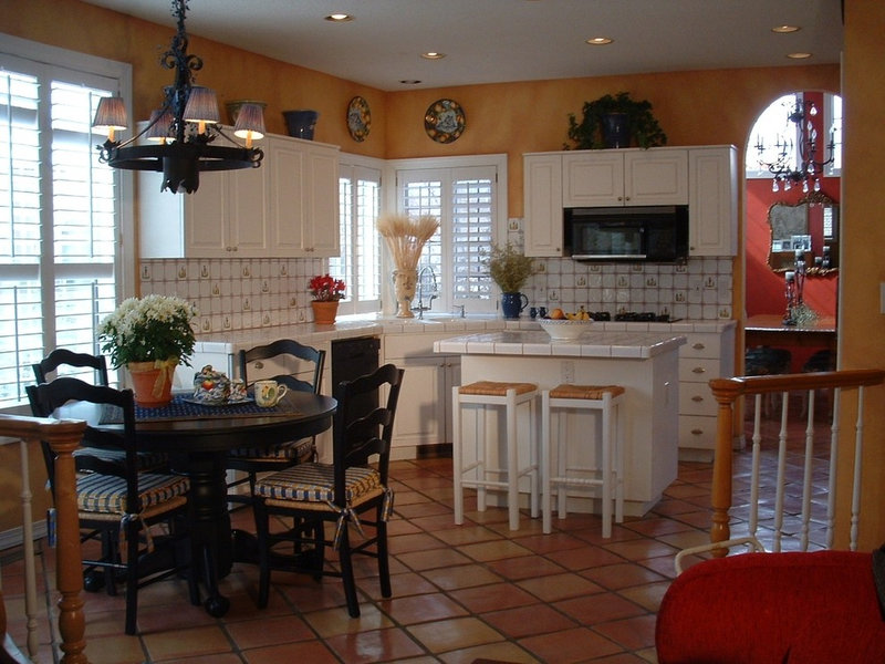 mediterranean kitchen by Cornerstone Interiors