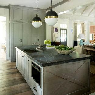 Pietra Grey Honed Marble island