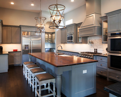 Grey Cabinets And Dark Counters Home Design Ideas
