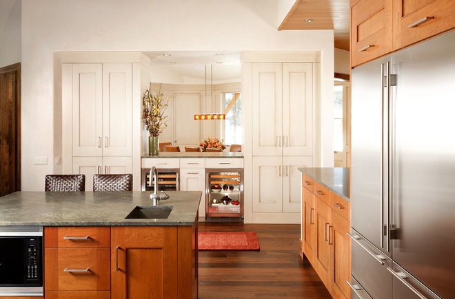 Transitional Kitchen by Anne Grice Interiors