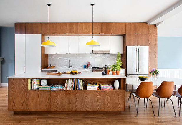 Midcentury Kitchen by Lisa Lev Design