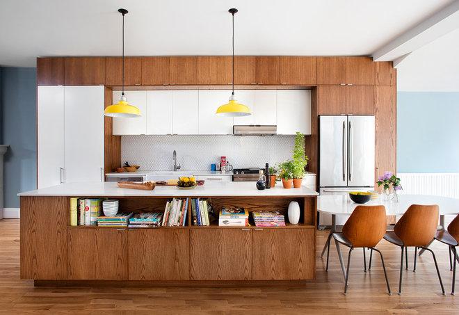 Midcentury Kitchen by Lisa Lev Design