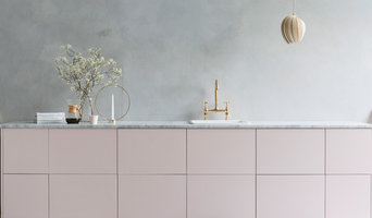 Pink and Marble Kitchen