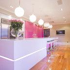 Pink Glass Kitchen