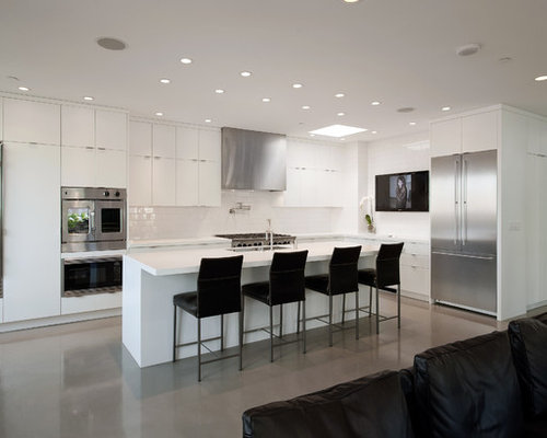 Modern Kitchen with Ceramic Backsplash Design IdeasRemodel