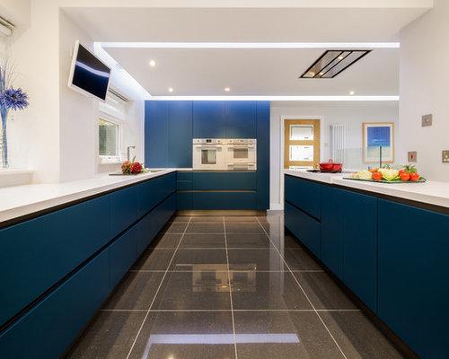 Black Kitchen Design Ideas Renovations Photos With White Appliances