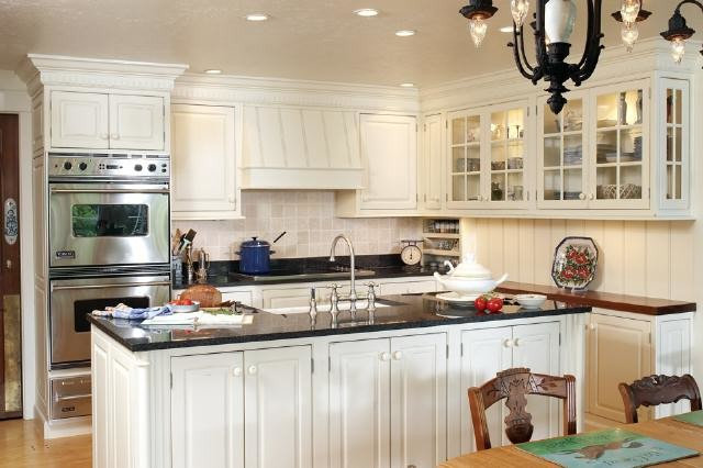 Plain & Fancy Cabinetry: Arctic Distressed White